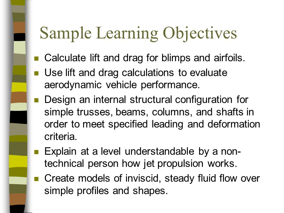 Sample Learning Objectives
