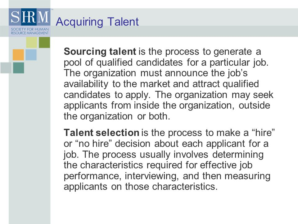 Acquiring Talent