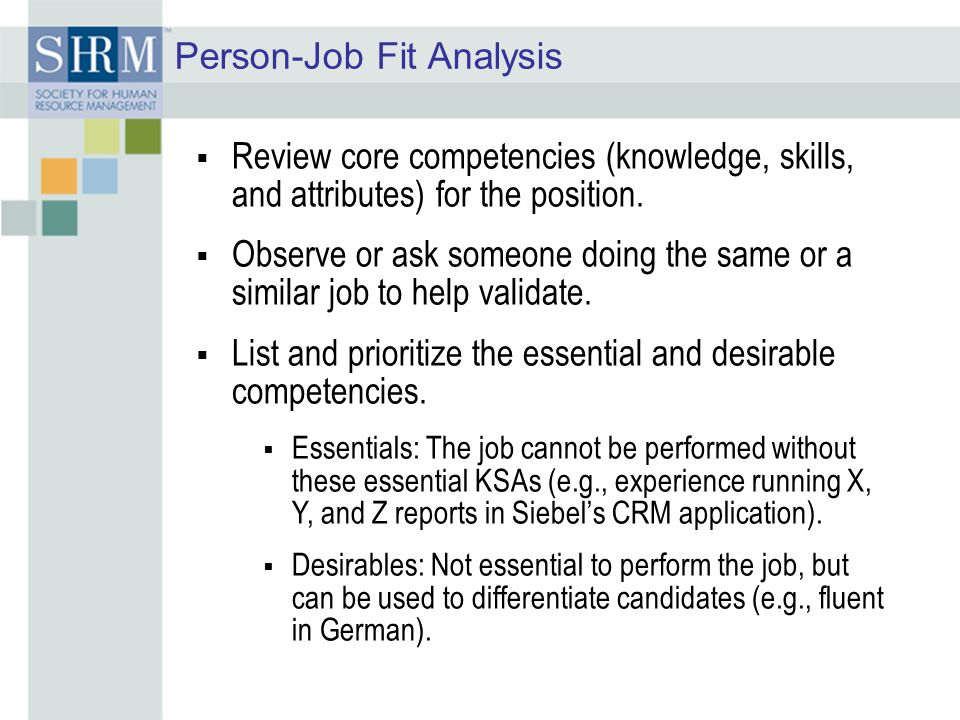Person-Job Fit Analysis