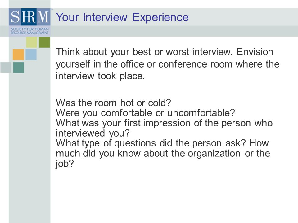 Your Interview Experience