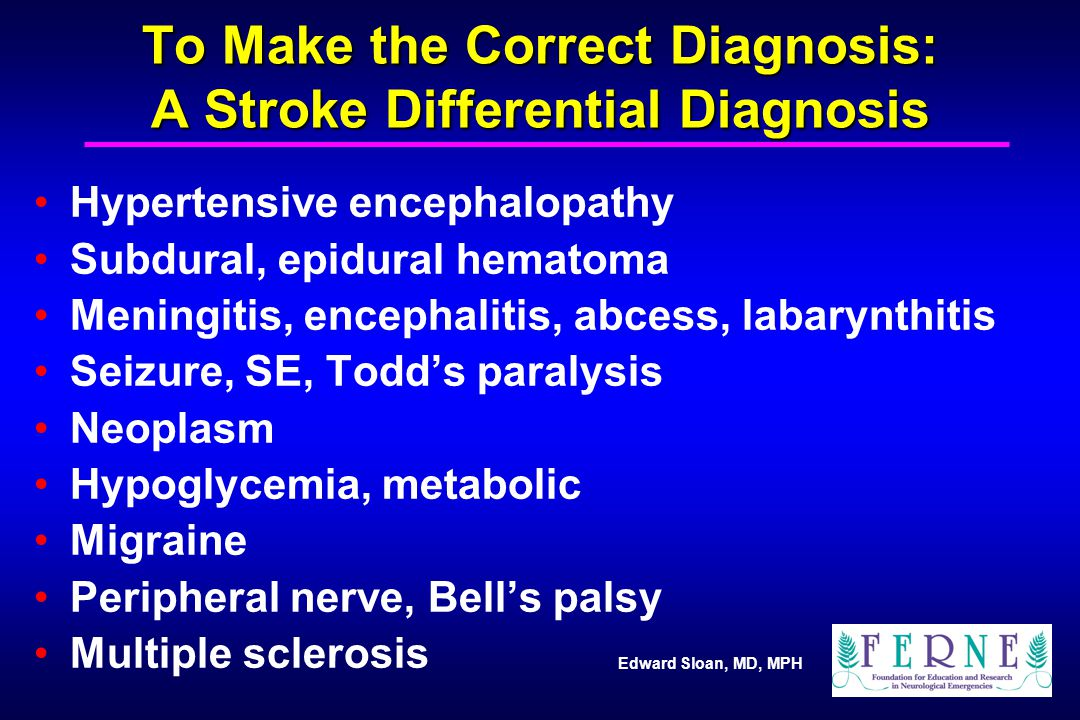 To Make the Correct Diagnosis: A Stroke Differential Diagnosis