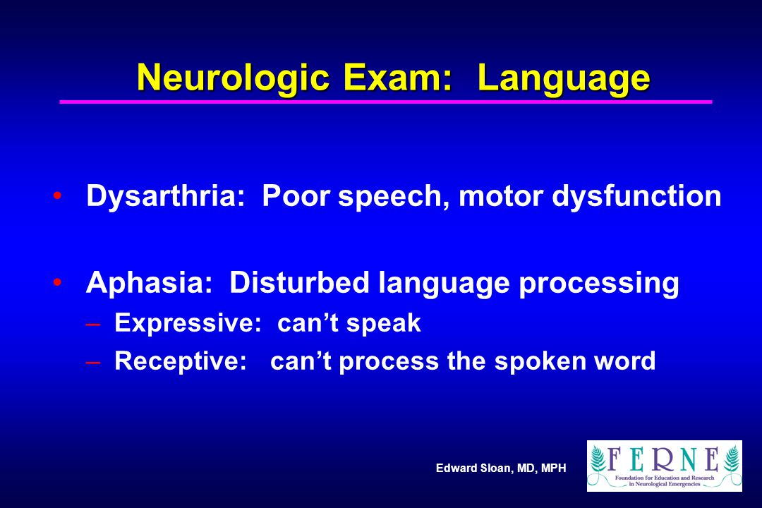 Neurologic Exam: Language