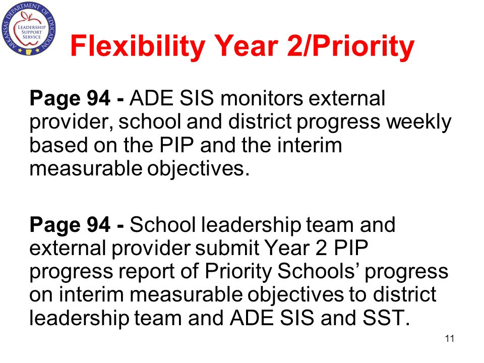 Flexibility Year 2/Priority