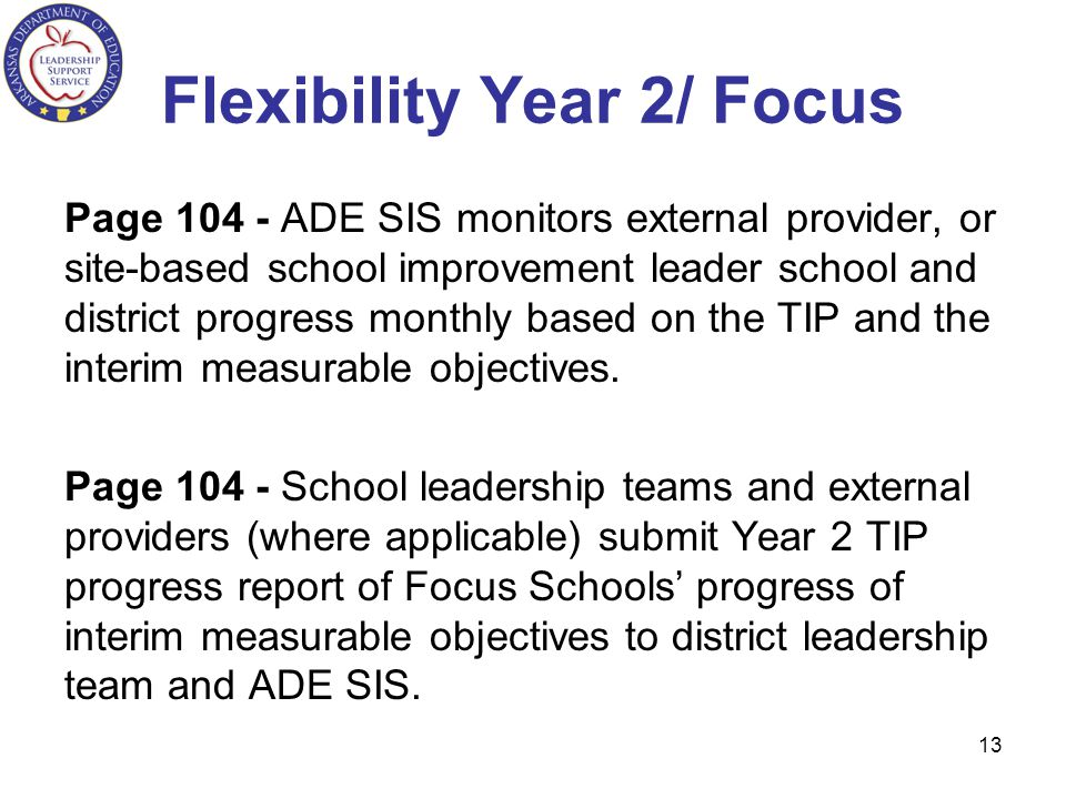 Flexibility Year 2/ Focus