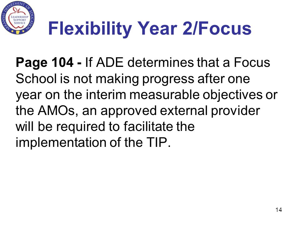 Flexibility Year 2/Focus