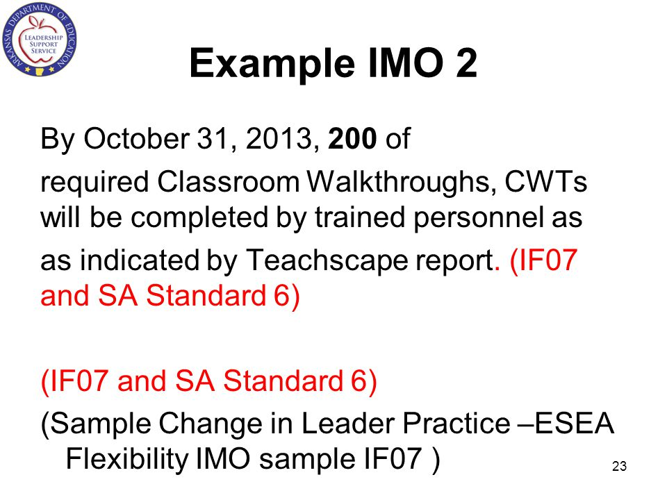 Example IMO 2 By October 31, 2013, 200 of