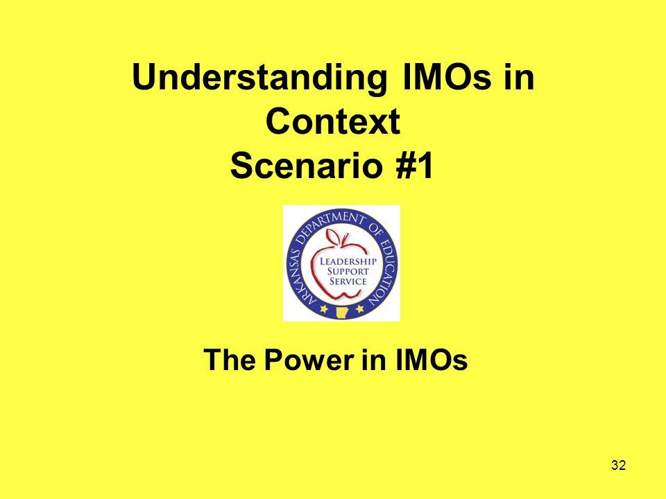 Understanding IMOs in Context Scenario #1