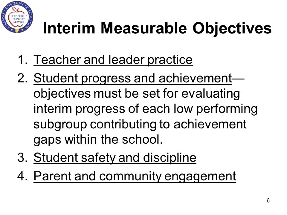 Interim Measurable Objectives