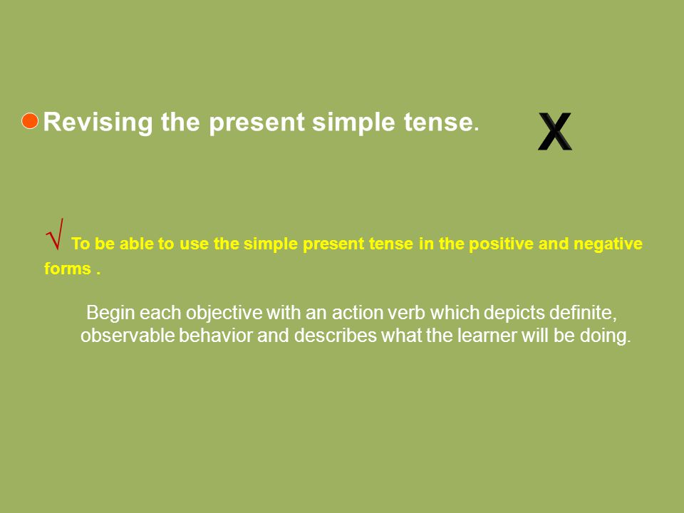 Revising the present simple tense.