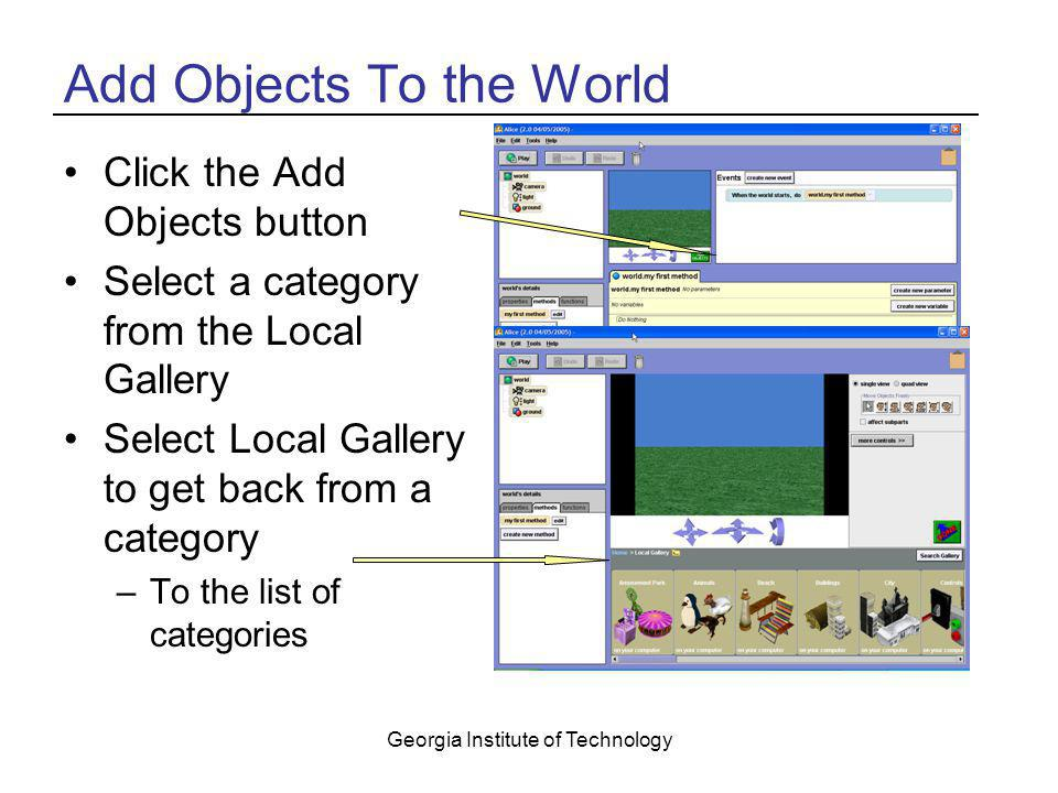 Add Objects To the World