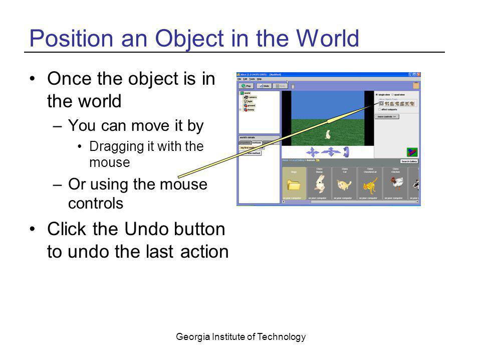 Position an Object in the World
