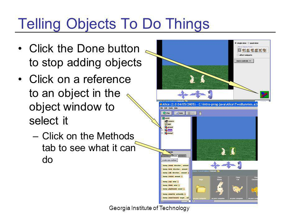Telling Objects To Do Things