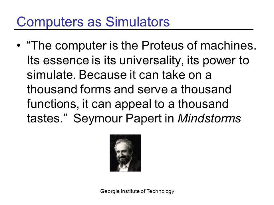 Computers as Simulators