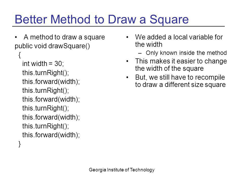 Better Method to Draw a Square