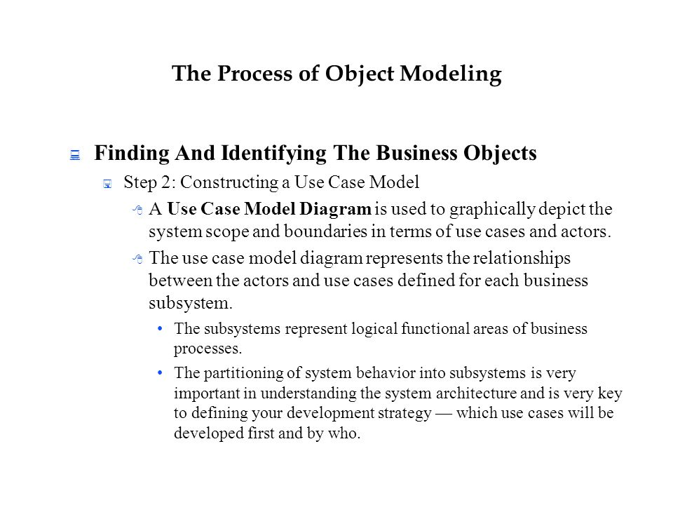 The Process of Object Modeling