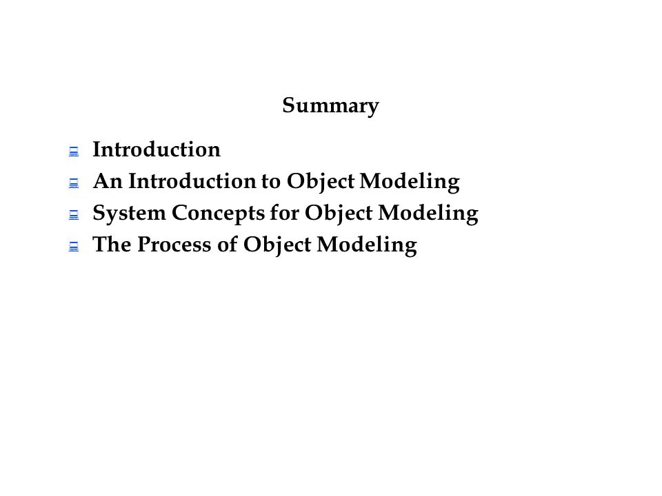An Introduction to Object Modeling System Concepts for Object Modeling