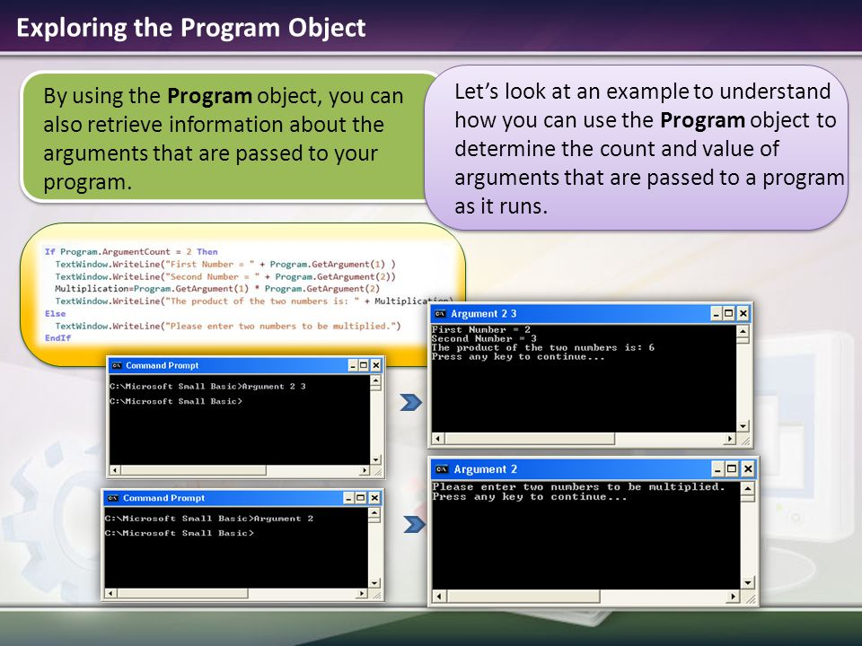 Exploring the Program Object
