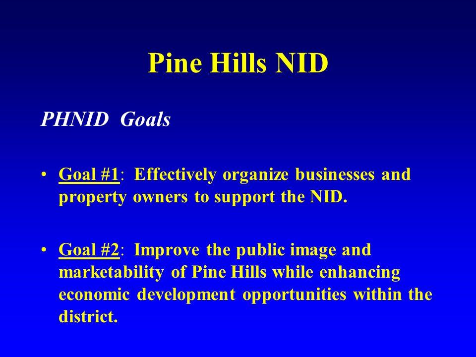 Pine Hills NID PHNID Goals