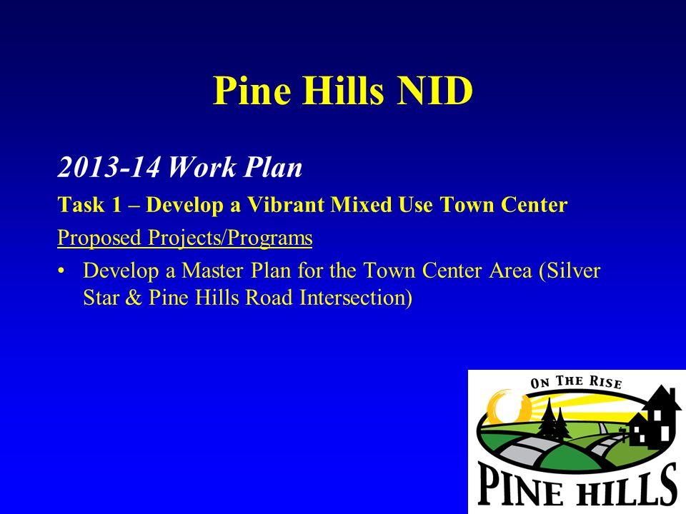 Pine Hills NID 2013-14 Work Plan