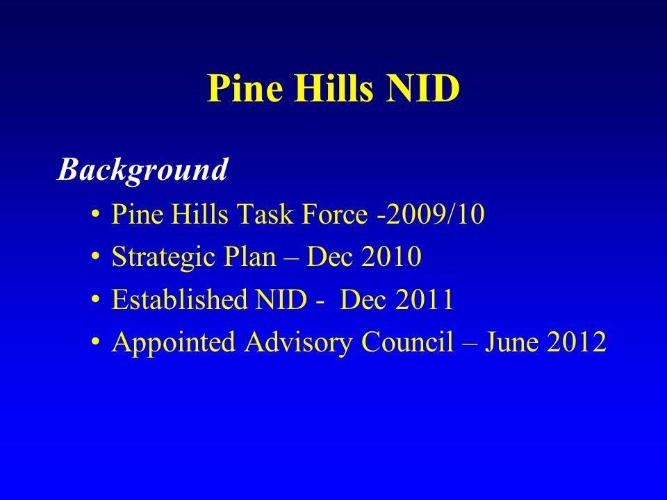 Pine Hills NID Background Pine Hills Task Force -2009/10
