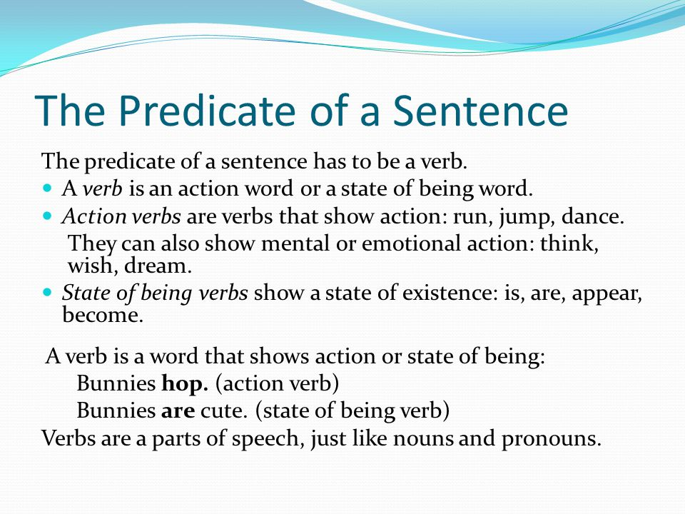 The Predicate of a Sentence