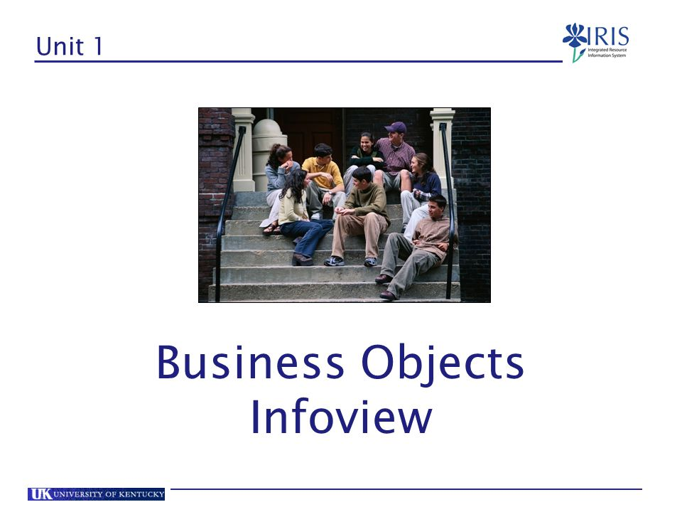 Unit 1 Business Objects Infoview