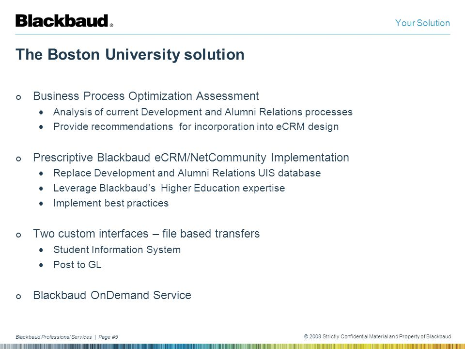 The Boston University solution