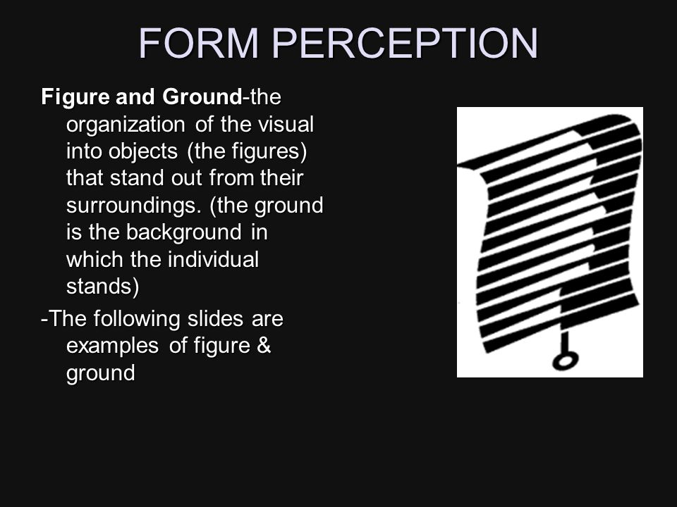 FORM PERCEPTION