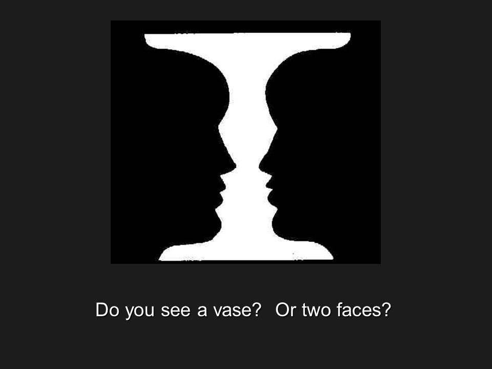 Do you see a vase Or two faces