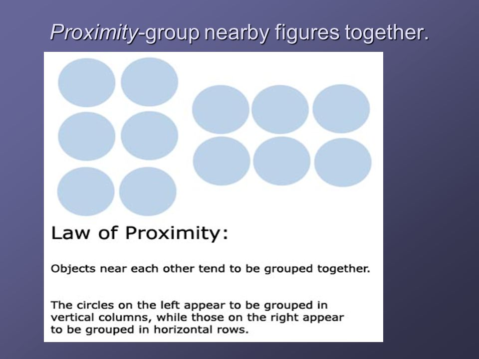 Proximity-group nearby figures together.