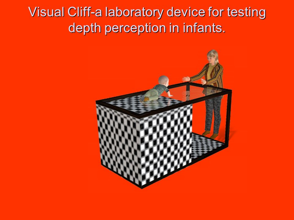 Visual Cliff-a laboratory device for testing depth perception in infants.