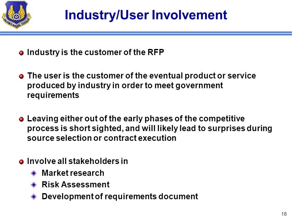 Industry/User Involvement
