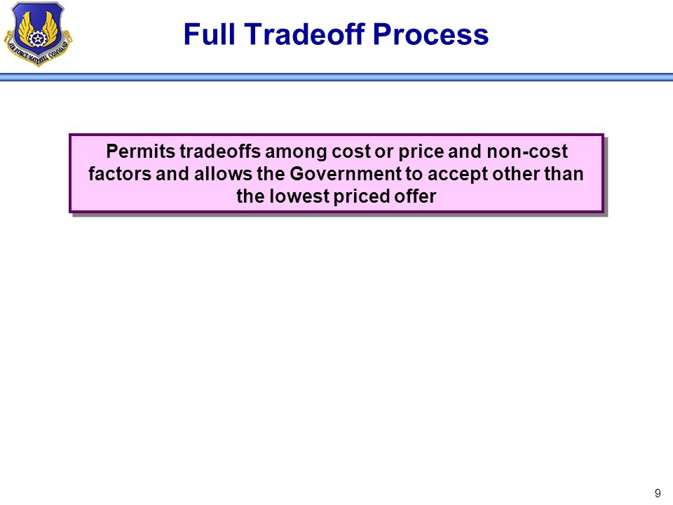 Full Tradeoff Process