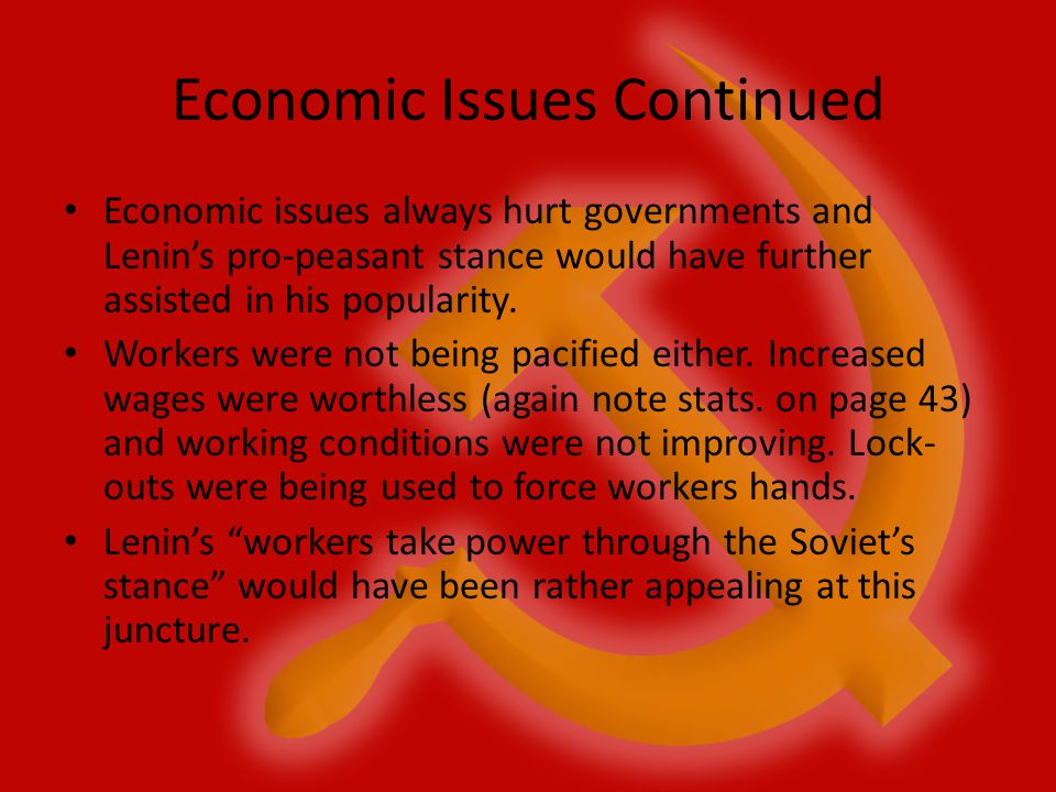 Economic Issues Continued