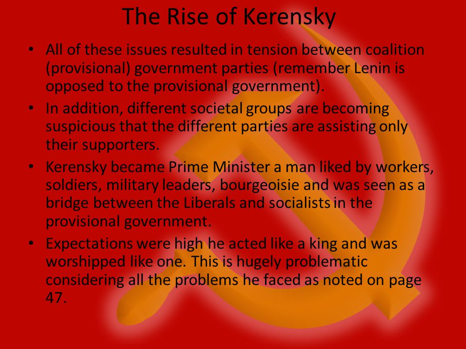 The Rise of Kerensky