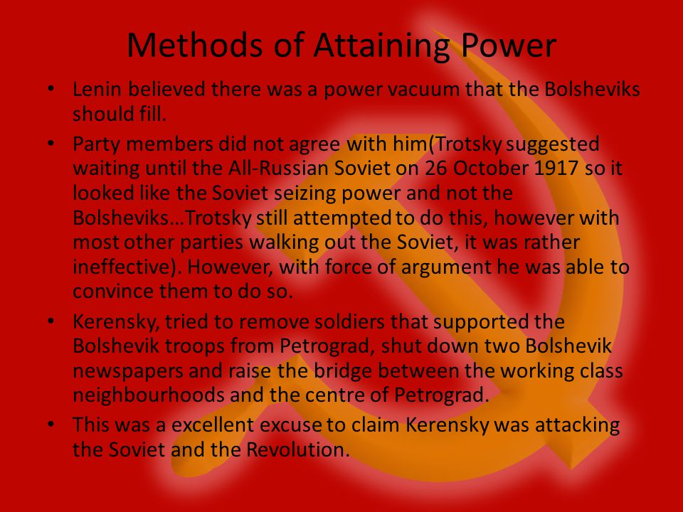 Methods of Attaining Power