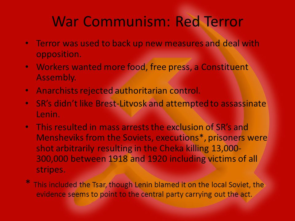 War Communism: Red Terror