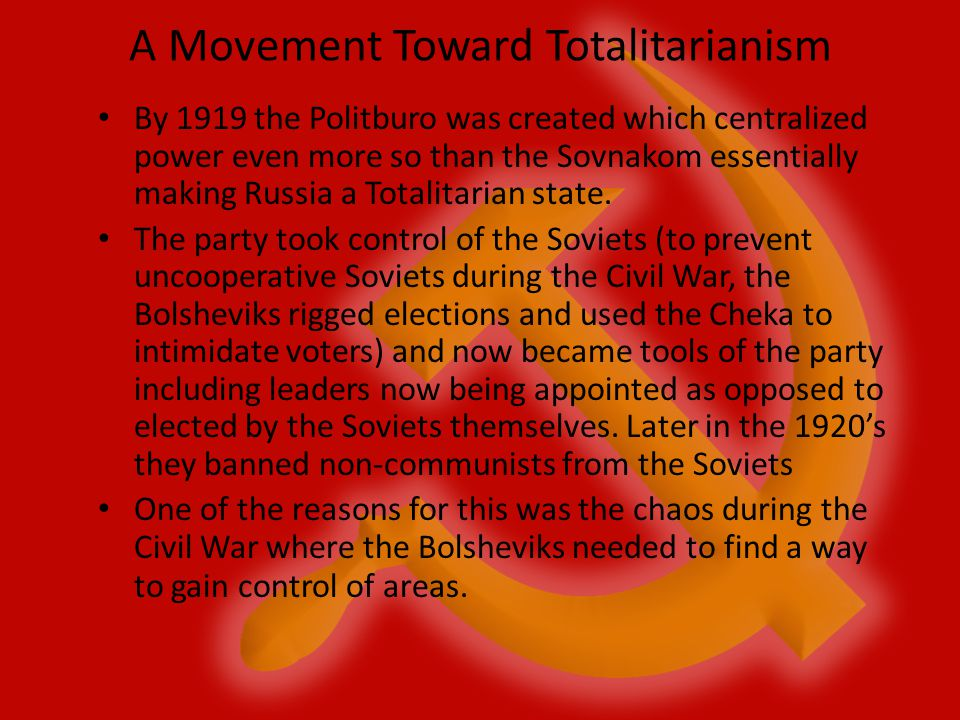 A Movement Toward Totalitarianism