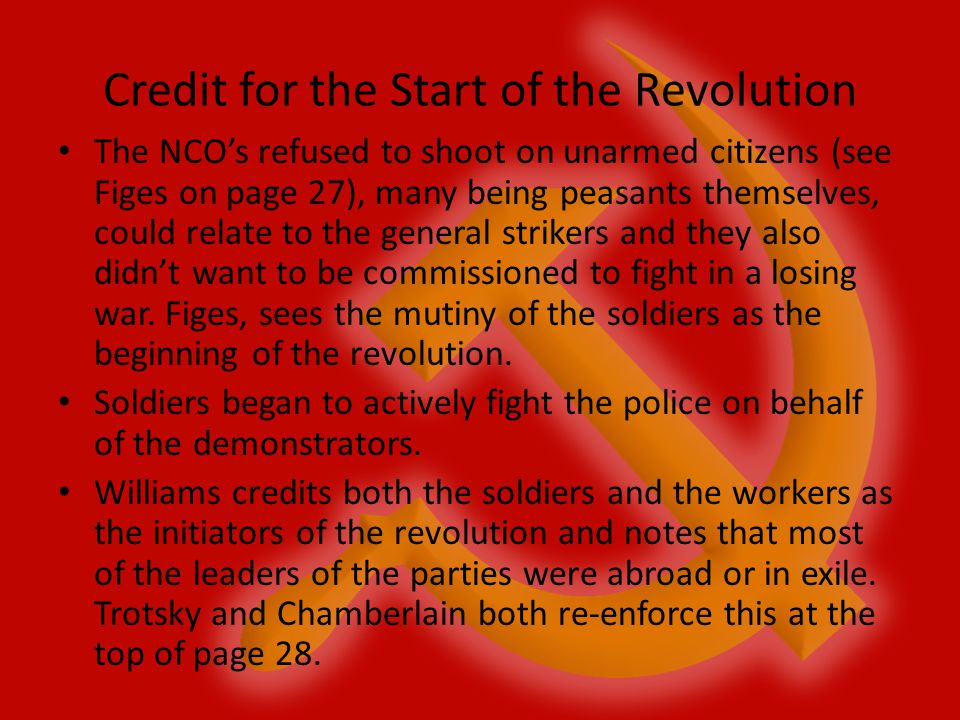 Credit for the Start of the Revolution