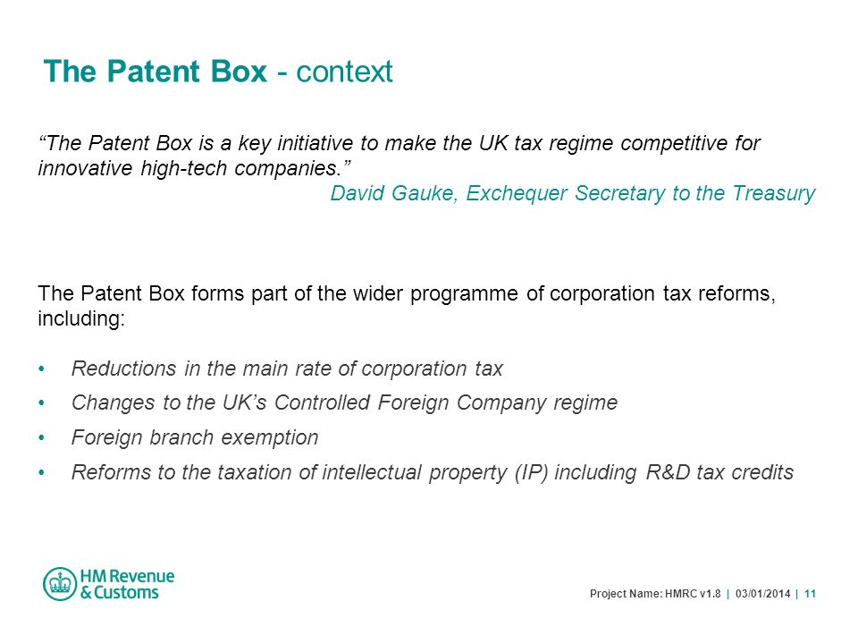 The Patent Box - context