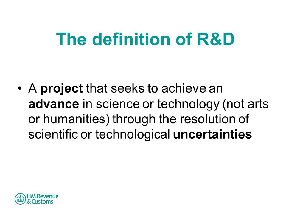 The definition of R&D
