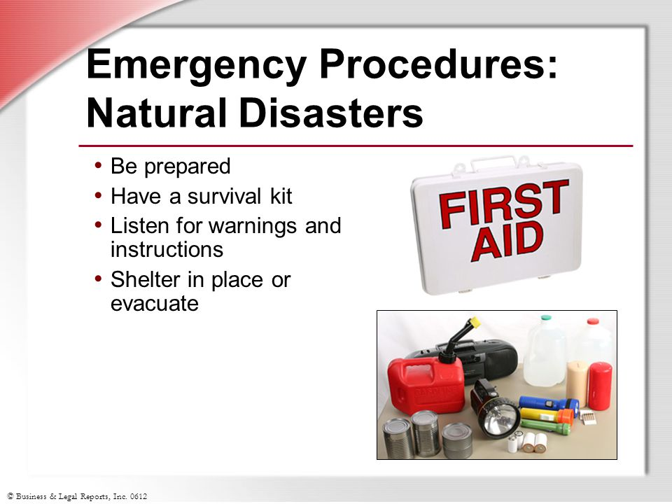Emergency Procedures: Natural Disasters