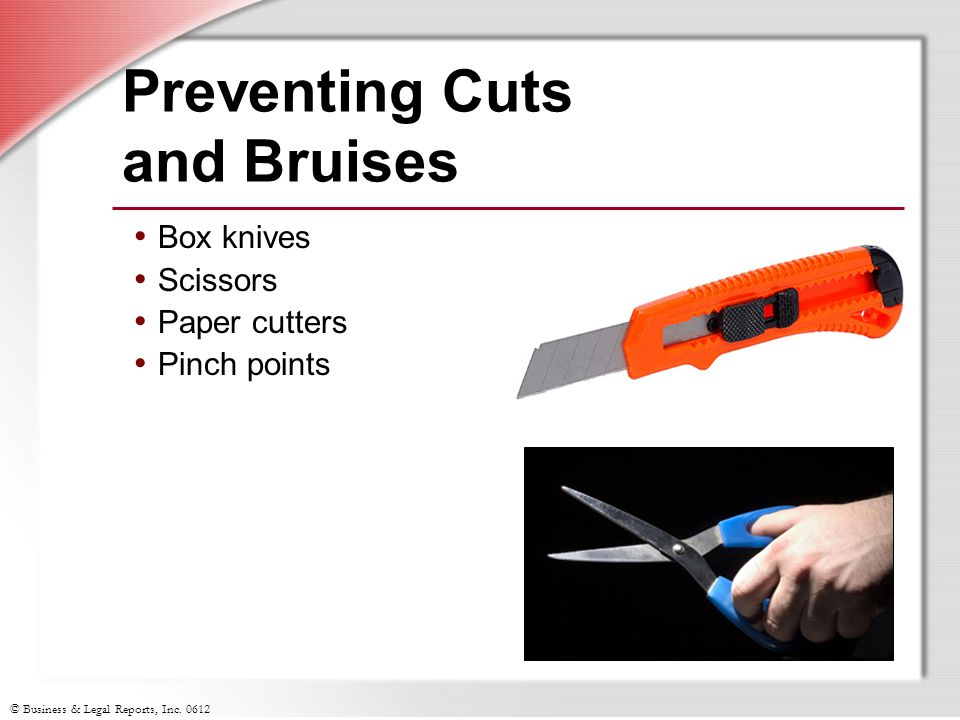 Preventing Cuts and Bruises
