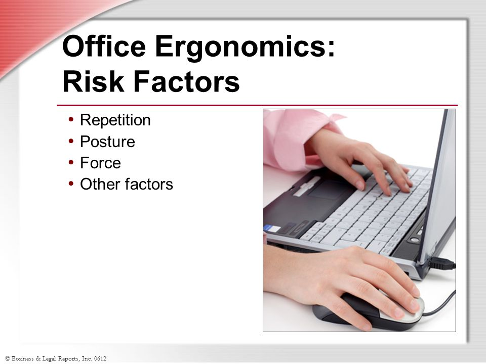 Office Ergonomics: Risk Factors