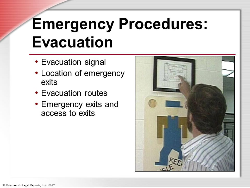 Emergency Procedures: Evacuation
