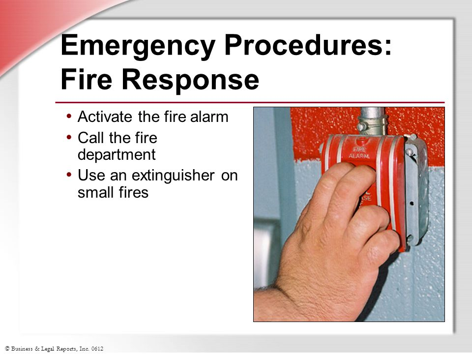 Emergency Procedures: Fire Response