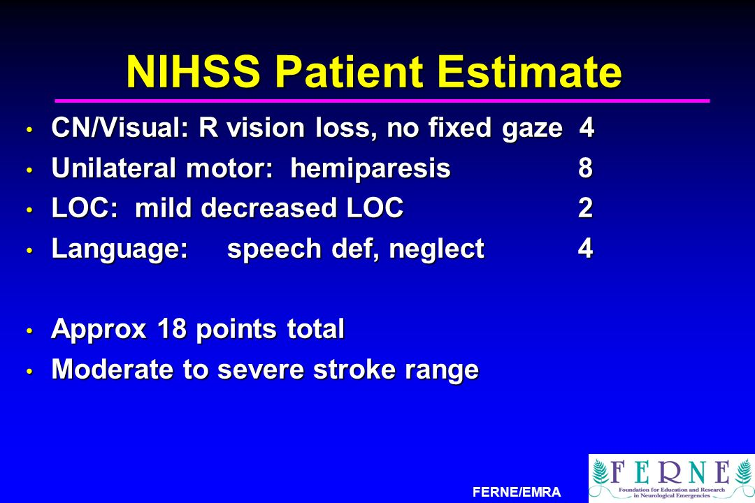 NIHSS Patient Estimate
