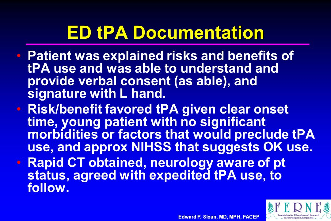 ED tPA Documentation
