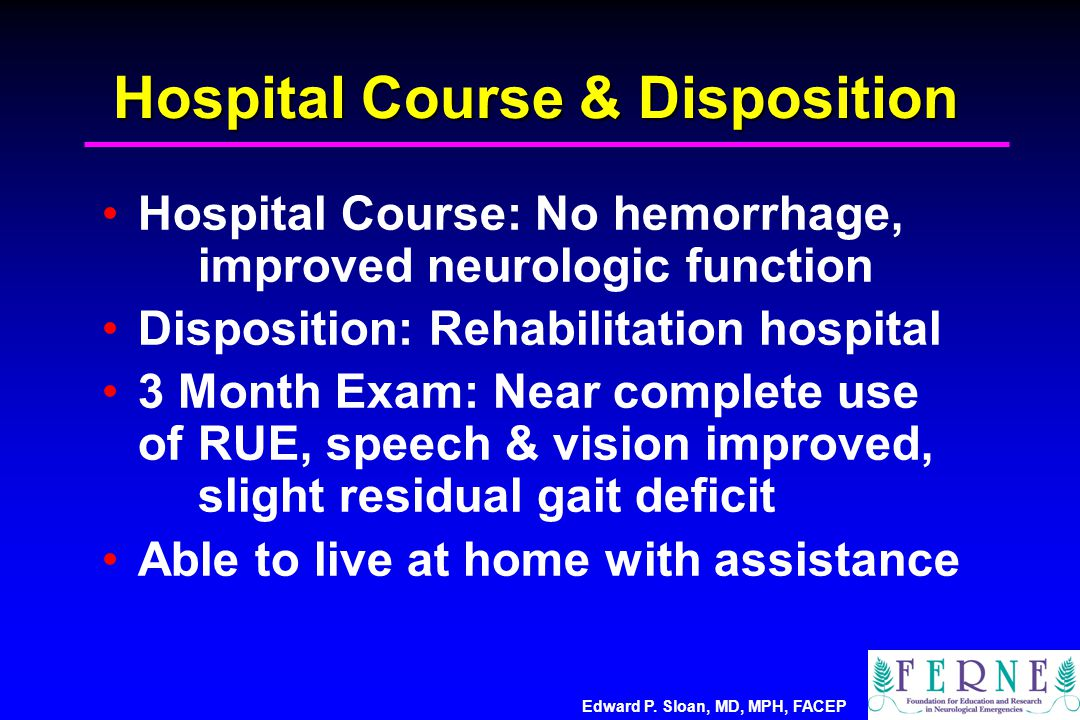 Hospital Course & Disposition