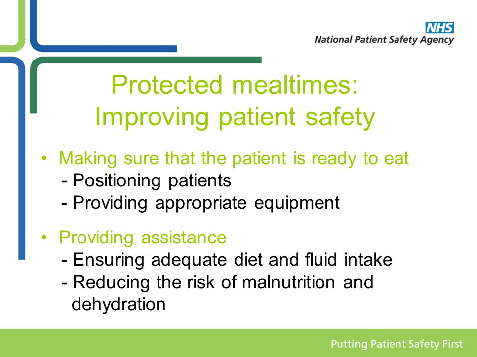 Protected mealtimes: Improving patient safety
